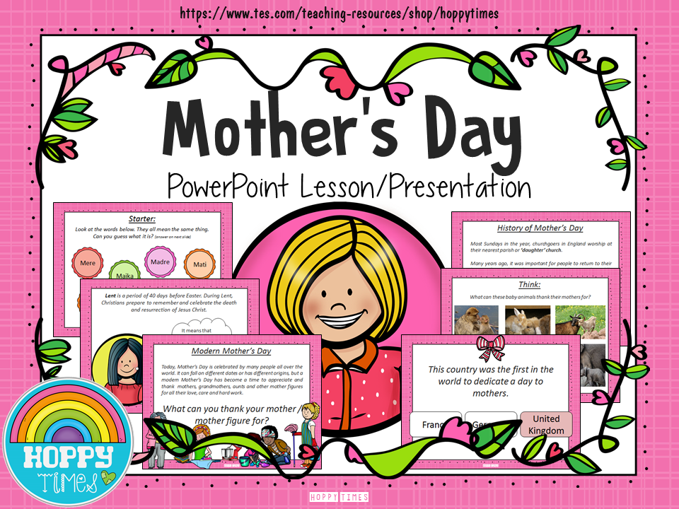 Mother's Day UK (Mothering Sunday) Presentation/ Assembly