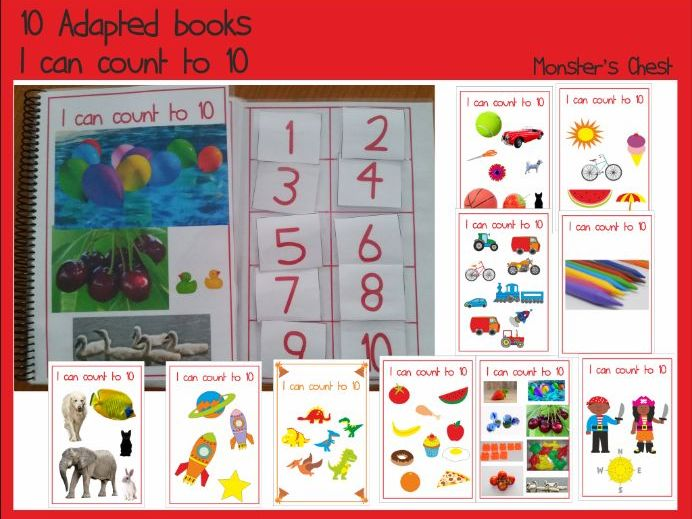 10 Basic Maths Adapted Books.