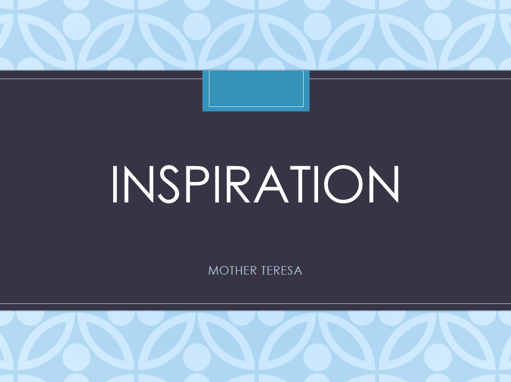 Inspiration Assembly Mother Teresa
