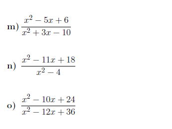 Simplifying expressions with algebraic fractions worksheet (with solutions)