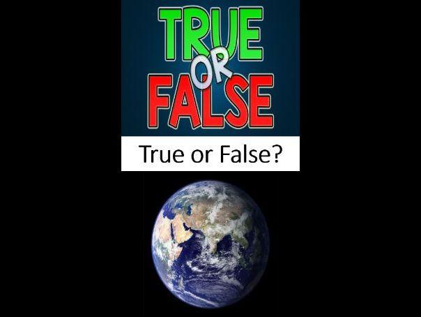 Africa - True or False Revision Quiz