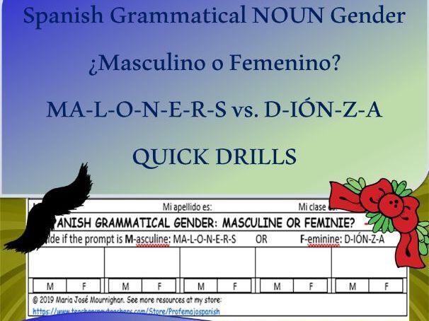 "¿Masculino o Femenino? - Beyond ""-o"" and ""-a"""
