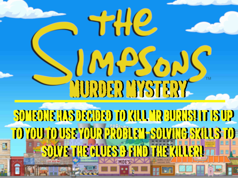 The Simpsons - Murder Mystery