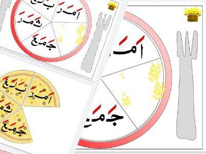 Fathah Words Pizza Slice Bingo