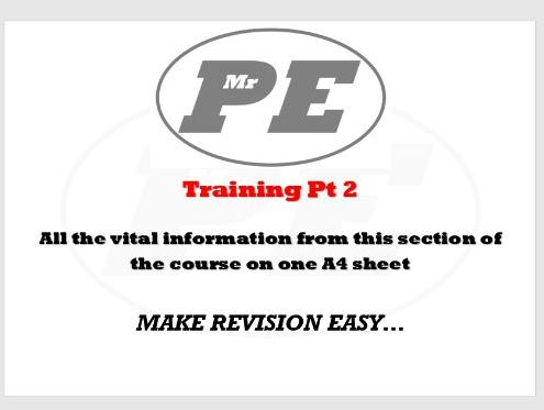 KEY INFO SHEET Training Part 2
