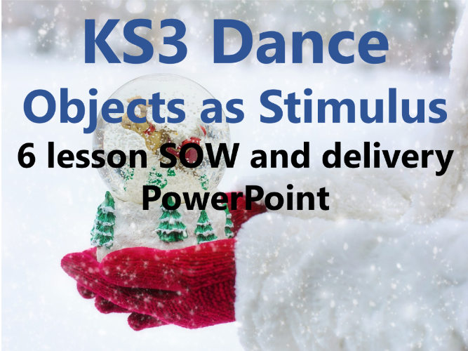 KS3 Dance Year 8 'Objects as Stimulus' 6 lesson SOW and delivery PowerPoint