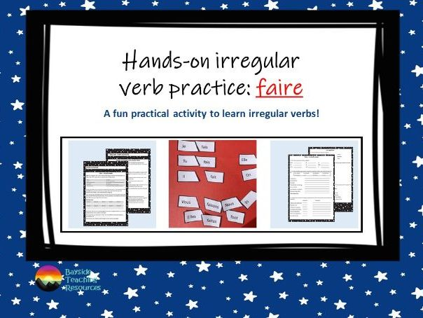 Faire - French irregular verb practice