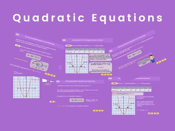 Quadratic Equations - GCSE Foundation, (US 9th - 10th grades)