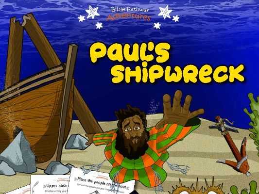 Paul's Shipwreck Activity Book for Kids Ages 3-5