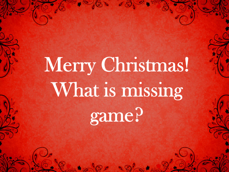 Christmas Memory Game Presentation - Full Class Game - Grades 4-5 - PowerPoint