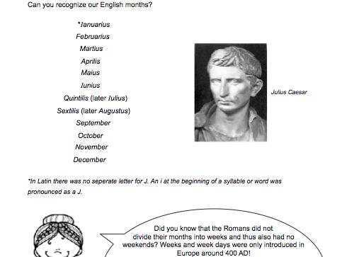 Roman Calendar Assignment