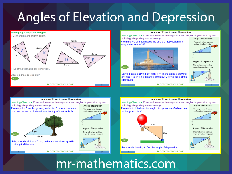 Angles Of Elevation And Depression By Mr Mathematics Teaching