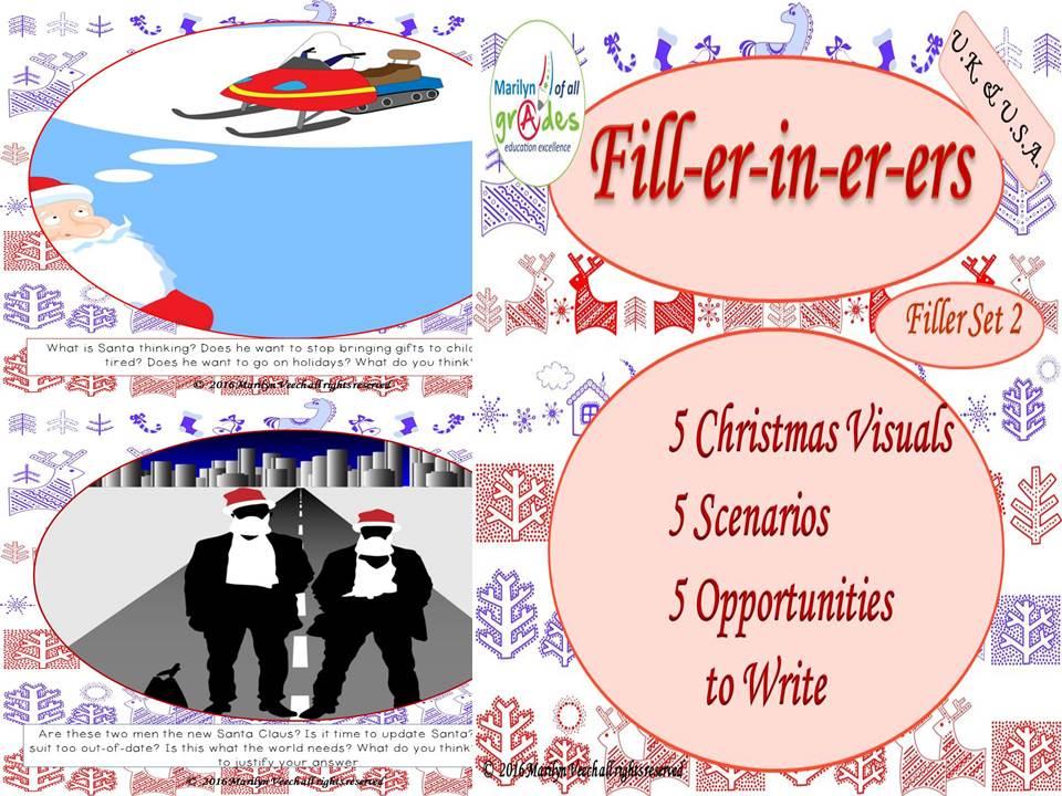 Christmas Writing Fill-er-in-er-er - Set 2