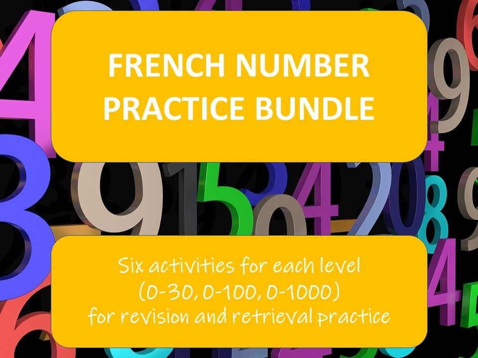 French number practice bundle