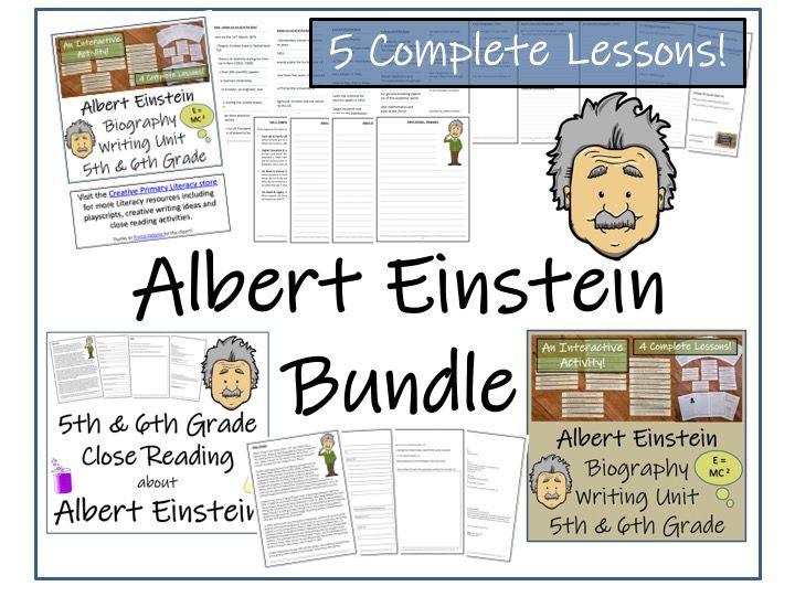 UKS2 Literacy - Bundle of Albert Einstein Activities