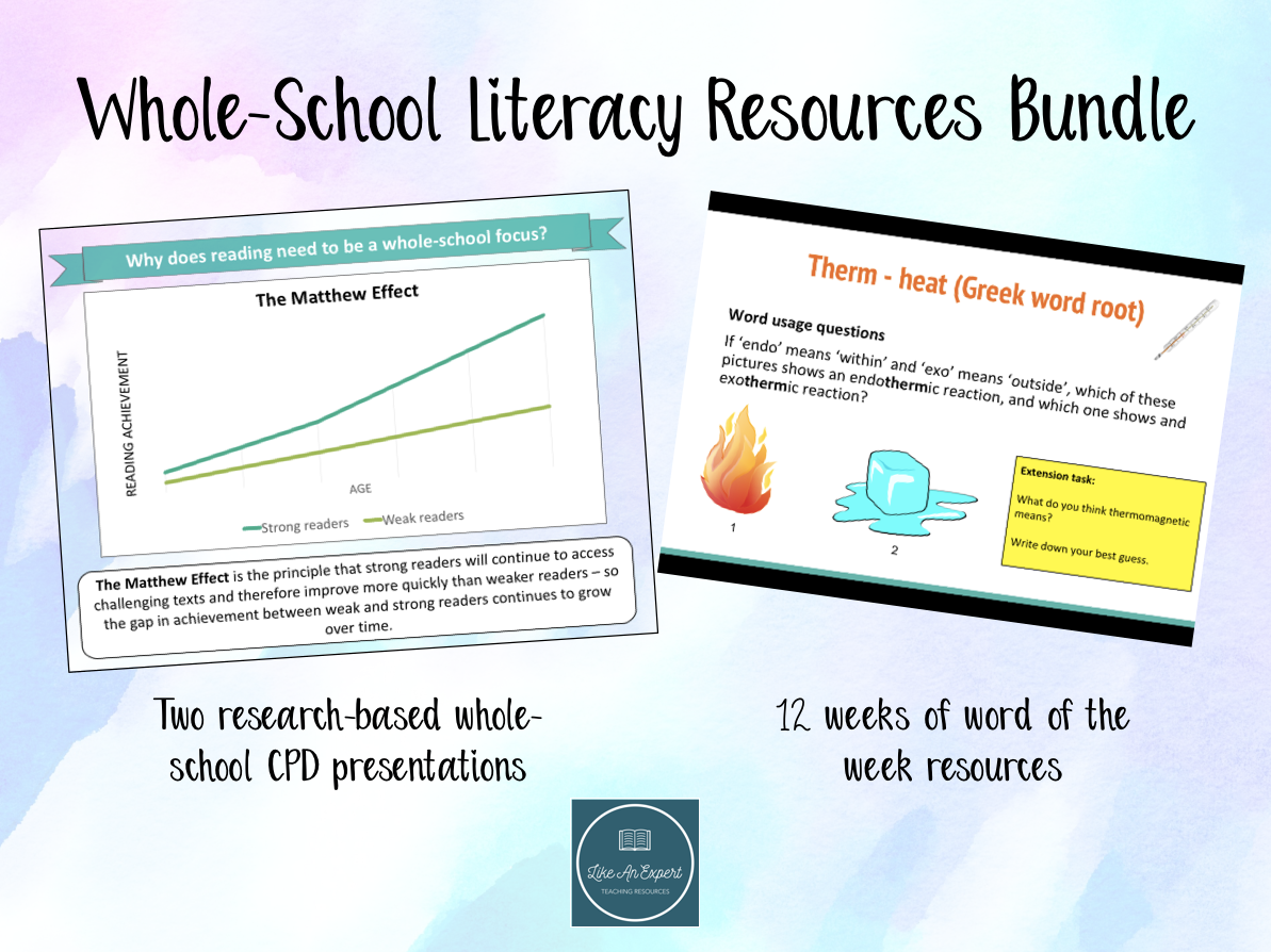 Whole-School Literacy Resources Bundle