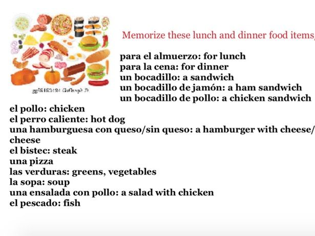 Ordering Food in a Spanish Restaurant