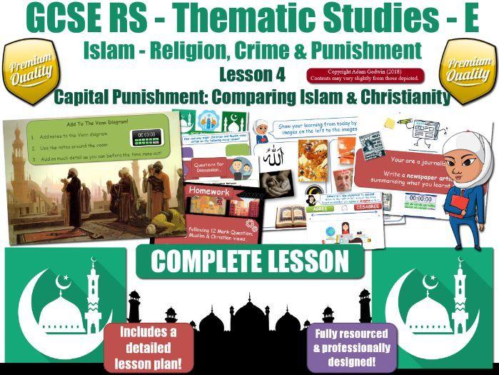 Capital Punishment - Comparing Muslim & Christian Views (GCSE Islam) Death Penalty - L4/7