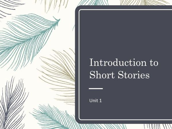 Short Stories: Plot