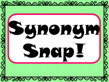 Synonym Snap Game