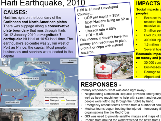 Natural Hazards case study cards