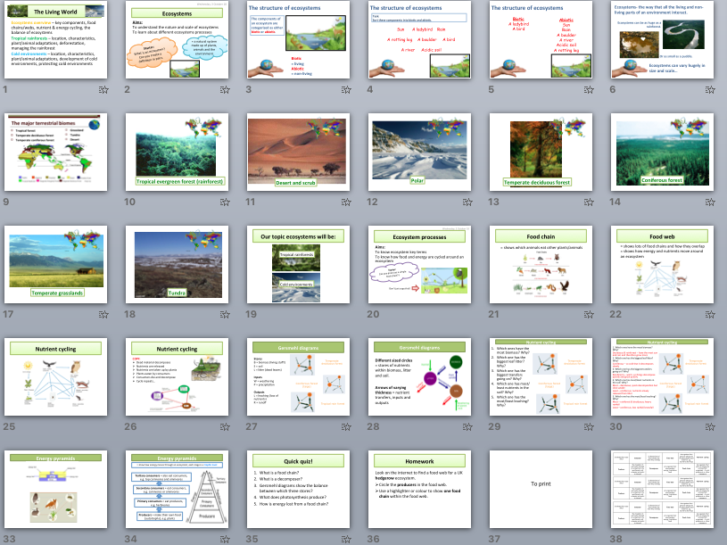AQA GCSE The Living World Scheme of Work (tropical rainforests and cold environments)