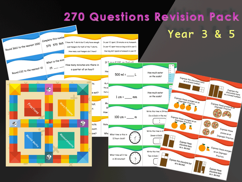 Year 3-5 Complete Maths Board Game