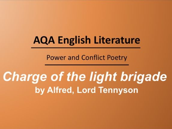 Charge Of The Light Brigade by Alfred, Lord Tennyson