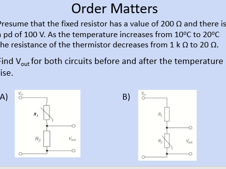 OCR AS Physics A: Sensing Circuits