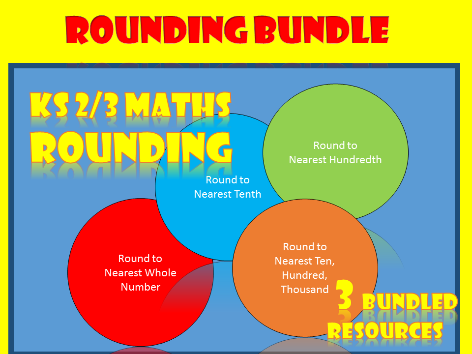 Rounding whole numbers and decimals (Bundle)