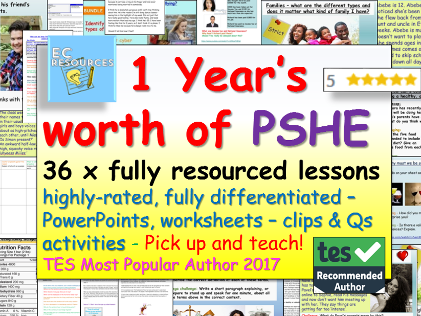 PSHE + Relationships and Sex Education