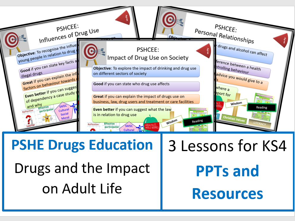 PSHE Drugs Education Lessons: Drugs and Adult Life - Lesson Bundle