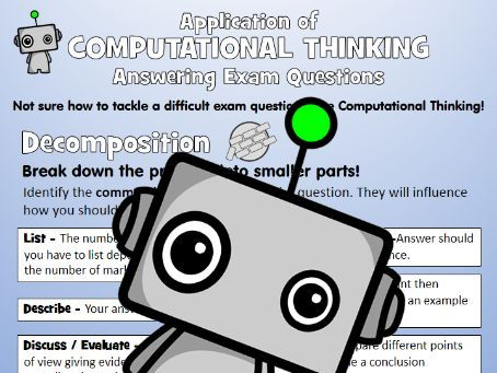 Application of Computational Thinking - Exam Questions