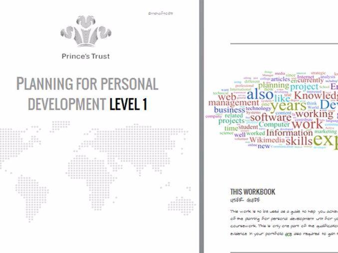 Prince's Trust Achieve Program Planning Personal Development Workbook