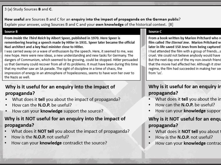 18. GCSE History Edexcel 1-9 Weimar and Nazi Germany Paper 3: Propaganda & Censorship
