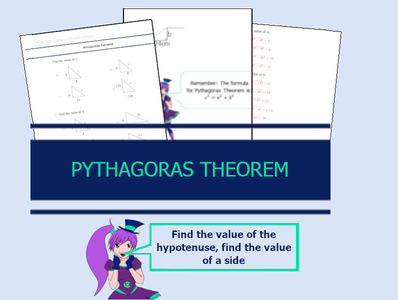 Yr 8 Pythagoras Theorem Worksheet with Answers