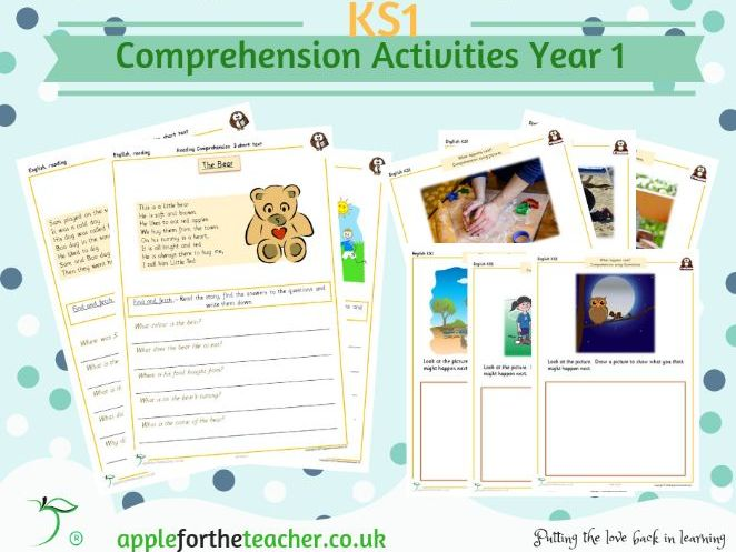 Reading Comprehension For Beginners Year 1 KS1