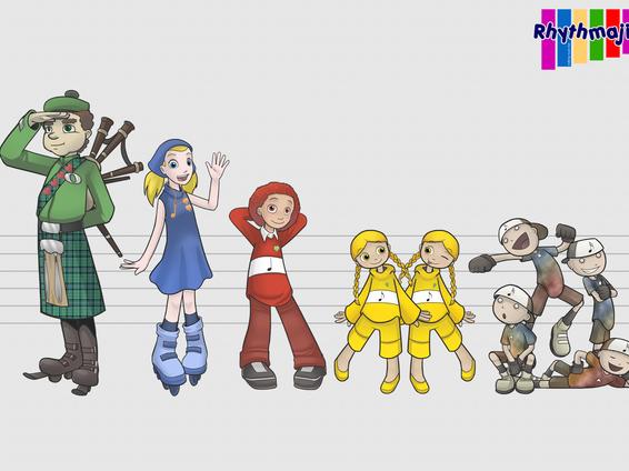 Rhythmajig character flash cards