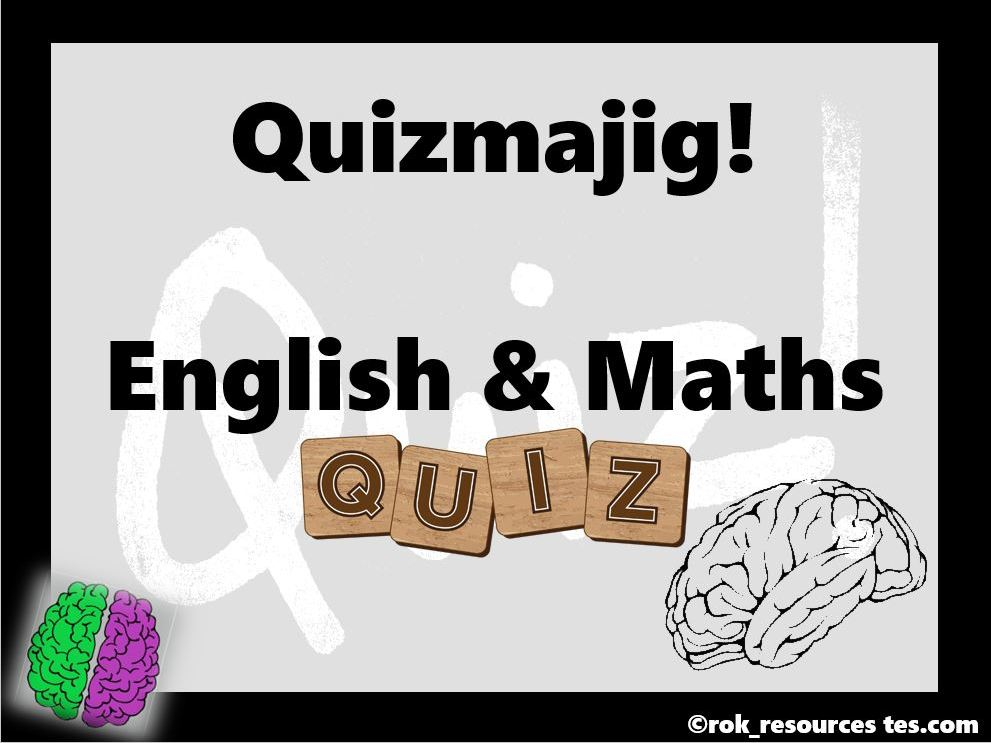 Maths and English Quiz - Quizmajig!