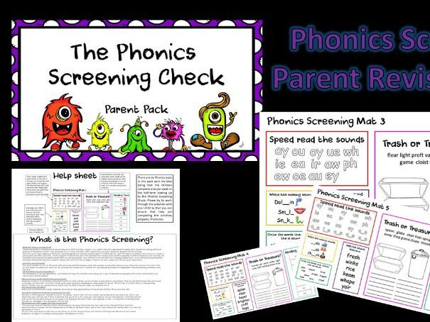 Phonics Screening Check Parent Pack Revision