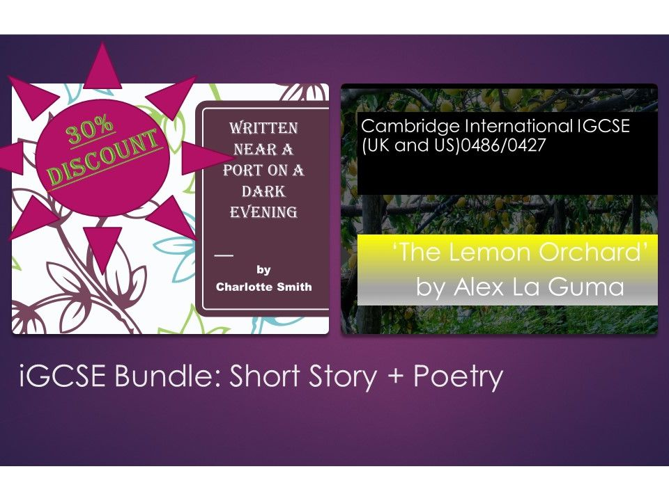iGCSE English: Short Story and Poetry Bundle