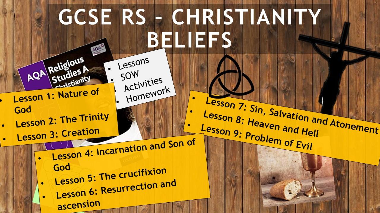 AQA GCSE RE RS - Christianity Beliefs - Complete Unit - 9 Lessons