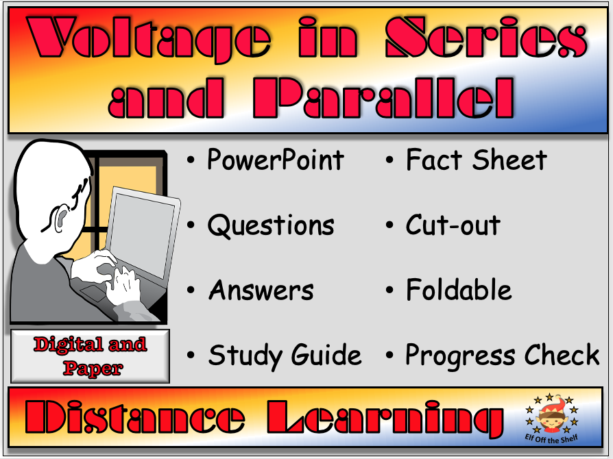 Voltage in Series and Parallel Circuits - Distance Learning or Home School for KS3