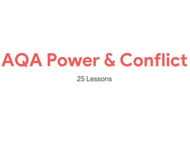 AQA Power and Conflict Scheme of Work