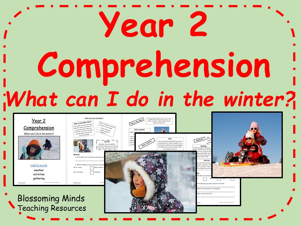 Year 2 Reading Comprehension Paper - Winter activities