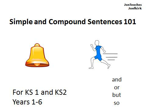 Conjunctions/ Connectives, Simple and Compound Sentences 101 for KS1 and KS2 SATS