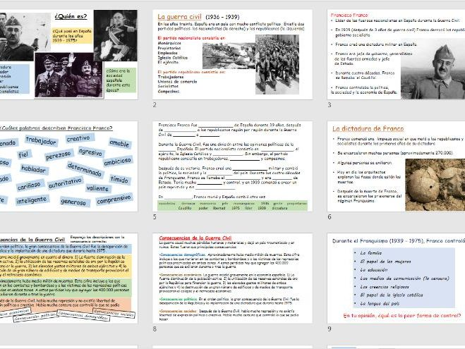 KS5 Spanish: Civil War & Franco's Dictatorship
