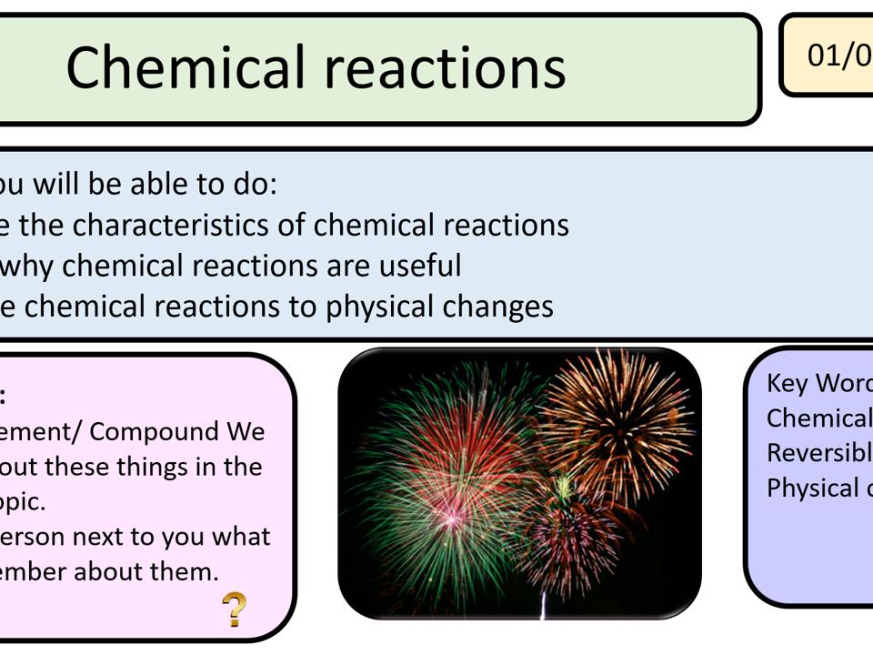 New Activate AQA 1 Reactions whole unit 12 lessons KS3