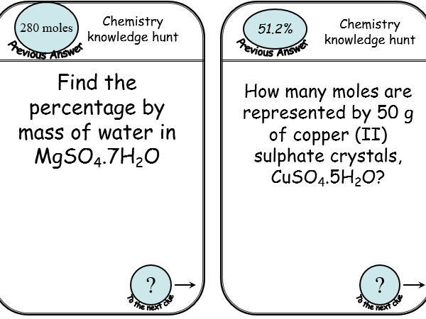 KS5, Module 2 - amount of substance REVISION ACTIVITY