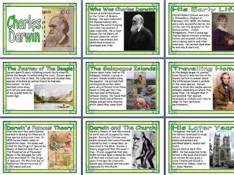 Charles Darwin Poster Set